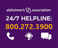 Image of Alzheimers Association Helpling with toll free number 800-272-3900