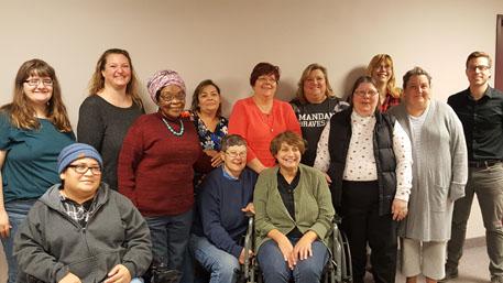 group photo of NDCPD's Consumer Advisory Committee members