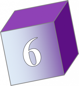 childs block with a 6 on the front